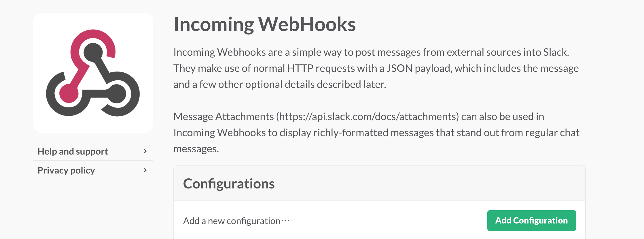 Slack Incoming WebHooks